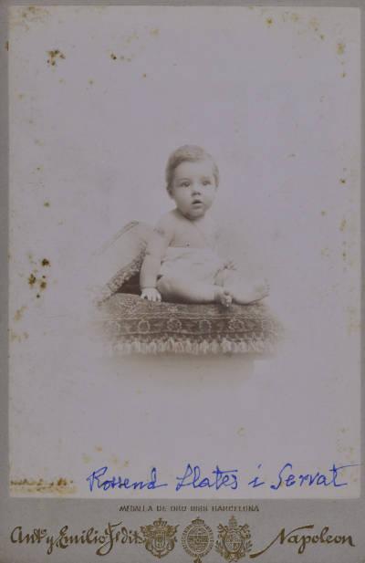 Retrat de Rossend Llates, als 6 mesos d'edat