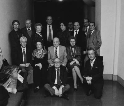 Retrat dels membres del Jurat del XXVII Concurs Maria Canals, al Palau de la Música Catalana