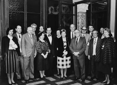 Retrat del jurat del XXXI Concurs Maria Canals, al Palau de la Música Catalana, el dia de la Prova Final