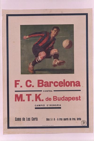 F.C. Barcelona contra M.T.K.de Budapest, campió d'Hongria