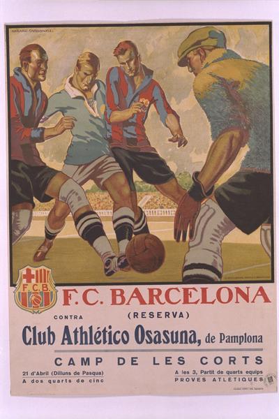 F.C.Barcelona (reserva) contra Club Atlhlético Osasuna, de Pamplona