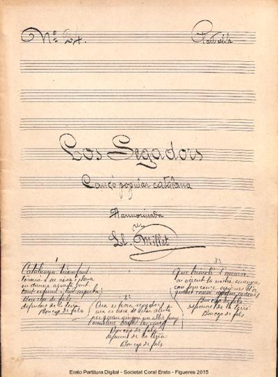 Los Segadors. Cançó popular catalana. Harmonitzada per Ll. Millet
