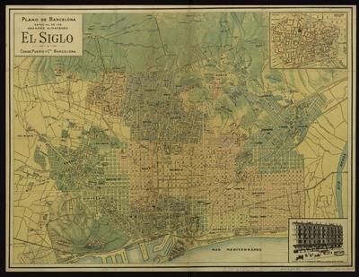 Plano de Barcelona : especial de los grandes almacenes El Siglo