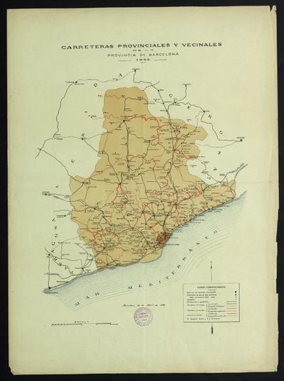 Carreteras provinciales y vecinales de la provincia de Barcelona