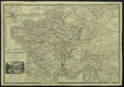 Carte génerale des routes de France