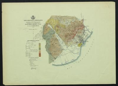 Mapa geológico y topográfico de la província de Barcelona