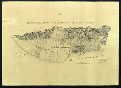 Plano de Barcelona y sus contornos y llano del Llobregat