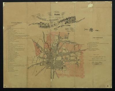 Plano de la ciudad de Figueras y su reforma
