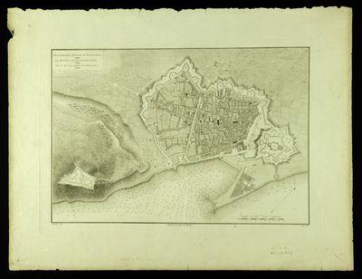 Plano de la ciudad y del puerto de Barcelona