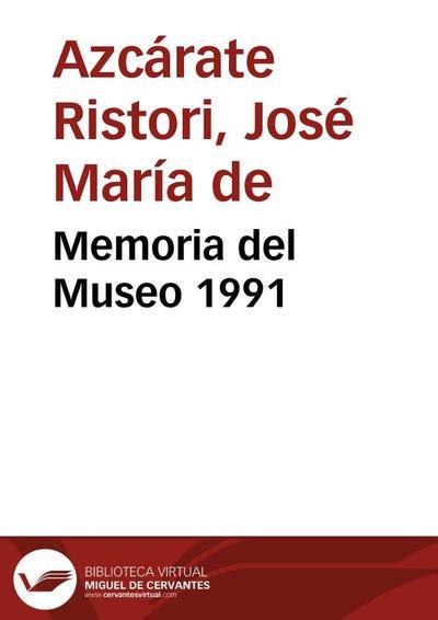 Memoria del Museo 1991