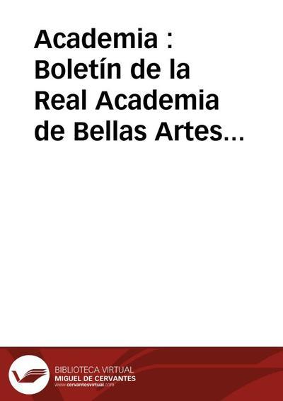 Academia : Boletín de la Real Academia de Bellas Artes de San Fernando. Primer semestre de 1962. Número 14. Crónica de la Academia