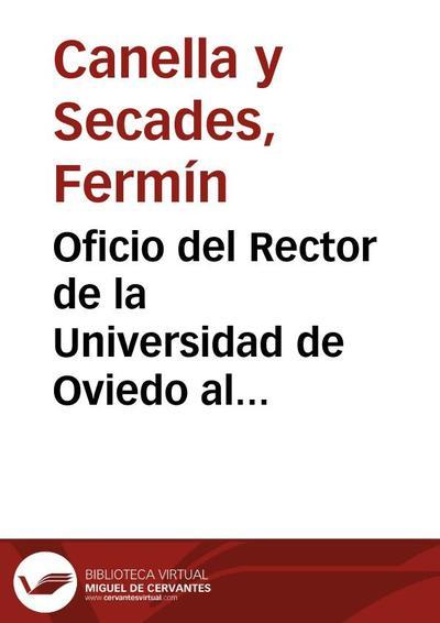 Oficio del Rector de la Universidad de Oviedo al Director de la Real Academia de la Historia adjuntándole como donación una medalla conmemorativa del III Centenario de dicha institución.