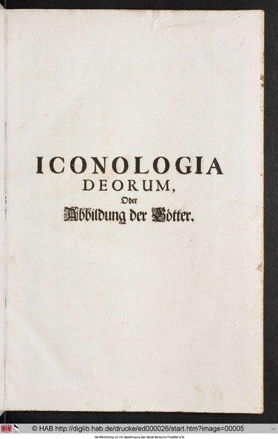 ICONOLOGIA DEORUM