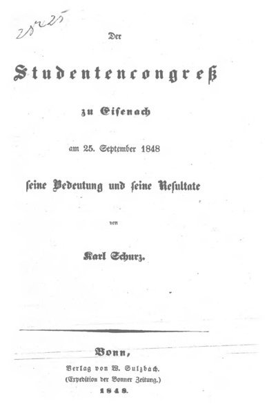 Der Studentencongreß zu Eisenach am 25. September 1848