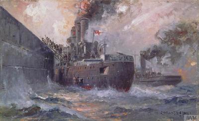 The 'Vindictive' at Zeebrugge: The storming of Zeebrugge Mole