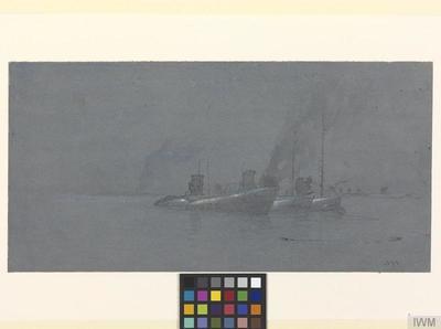 Night: U-Boat Avenue, Harwich : surrendered German submarines