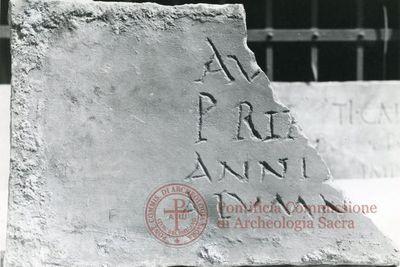 Inscription from Rome, Coem. ad viam Anapo - ICVR IX, 24654