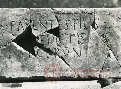 Inscription from Rome, Coem. ad viam Anapo - ICVR IX, 24796
