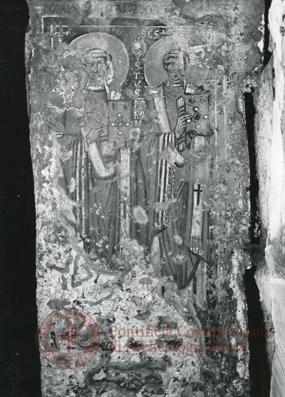 Inscription from Rome, Crypta s.Cornelii - ICVR IV, 9370.1