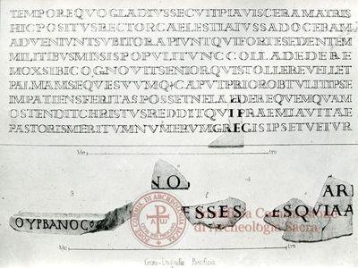 Inscription from Rome, Coem. Callisti pars inferior - ICVR IV, 9514