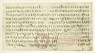 Inscription from Rome, Coem. Callisti pars inferior - ICVR IV, 9513