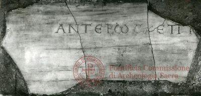 Inscription from Rome, Coem. Callisti pars inferior - ICVR IV, 10558