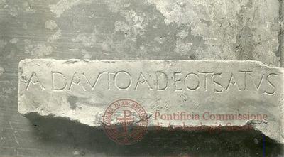 Inscription from Rome, Coem. Commodillae - ICVR II, 6020