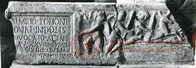 Inscription from Rome, Coem. Domitillae pars inferior - ICVR III, 6537