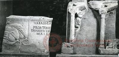 Inscription from Rome, Basilica ss. Nerei et Achillei in coem. Domitillae - ICVR III, 8307