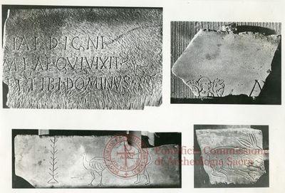 Inscription from Rome, Coem. Domitillae pars inferior - ICVR III, 6648