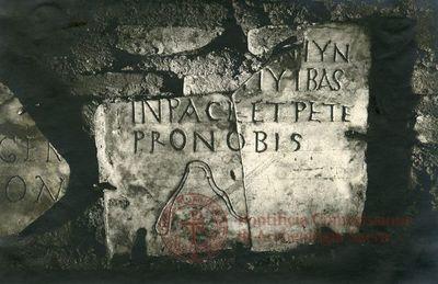 Inscription from Rome, Coem. Domitillae pars inferior - ICVR III, 7065