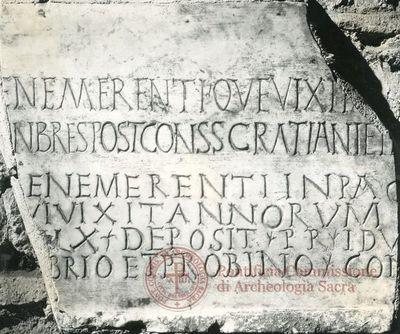 Inscription from Rome, Basilica ss. Nerei et Achillei in coem. Domitillae - ICVR III, 8149