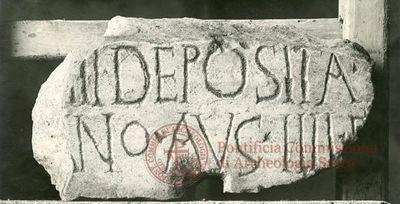 Inscription from Rome, Coem. Domitillae pars superior - ICVR III, 7380