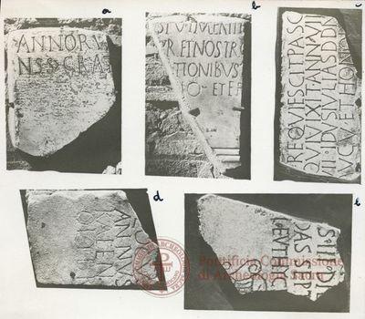 Inscription from Rome, Basilica ss. Nerei et Achillei in coem. Domitillae - ICVR III, 8162