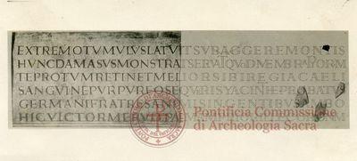 Inscription from Rome, Coem. Bassillae ad s.Hermetem - ICVR X, 26668