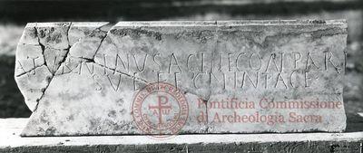 Inscription from Rome, Coem. Iordanorum - ICVR IX, 24332