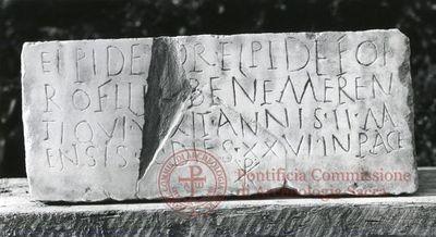 Inscription from Rome, Coem. Iordanorum - ICVR IX, 24380