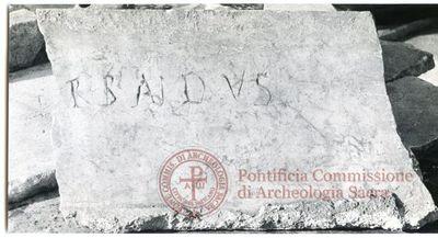 Inscription from Rome, Coem. ss.Marcellini et Petri - ICVR VI, 16479.b
