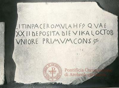 Inscription from Rome, Coem. Cyriacae ad s.Laurentium - ICVR VII, 17590