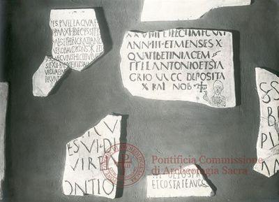 Inscription from Rome, Coem. Cyriacae ad s.Laurentium - ICVR VII, 17427
