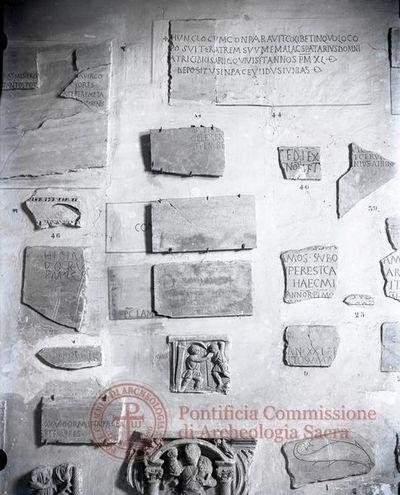 Inscription from Rome, Coem. Octavillae ad s.Pancratium - ICVR II, 4424