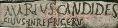 Inscription from Rome, Pars infima coem. Pamphili - ICVR X, 26400