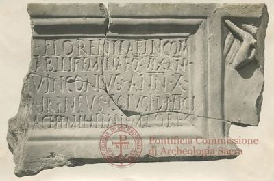 Inscription from Rome, Pars media et superior coem. Pamphili - ICVR X, 26571