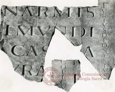 Inscription from Rome, Coem. Praetextati - ICVR V, 13874