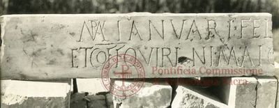 Inscription from Rome, Coem. Praetextati - ICVR V, 13876