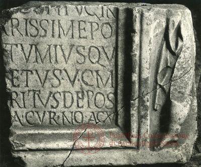 Inscription from Rome, Coem. Praetextati - ICVR V, 14558
