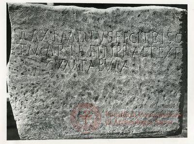 Inscription from Rome, Coem. Praetextati - ICVR V, 14478
