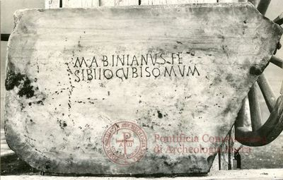Inscription from Rome, Coem. Praetextati - ICVR V, 14456
