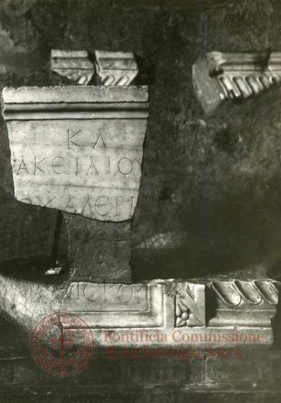 Inscription from Rome, Coem. Priscillae - ICVR IX, 24839