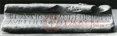 Inscription from Rome, Coem. Priscillae - ICVR IX, 25033